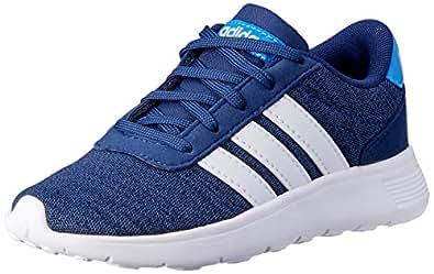adidas Boys Lite Racer Trainers, Dark Blue/Footwear White/True Blue, 1.5 US