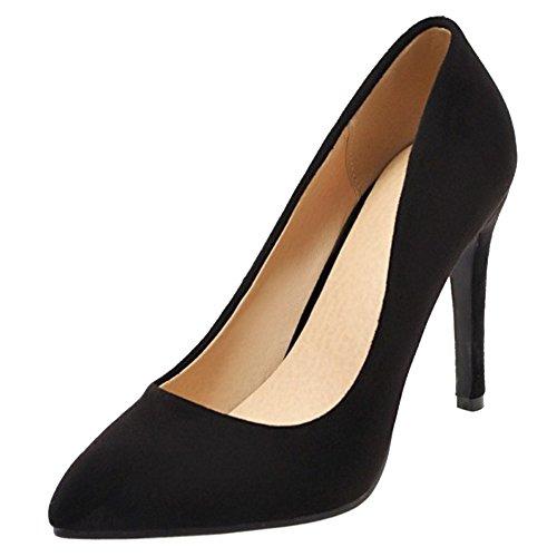 Mujer Sin 10cm Coolcept Black Cordones Zapatos Stiletto x7g4zTq4n