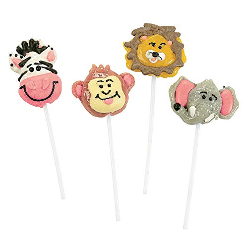 Animal Candy - Jungle Animal Zoo Lollipops (1 dz)