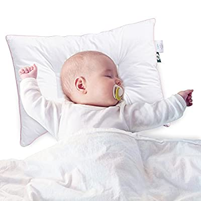 Sable Baby Toddler Pillow with DuPont Sorona Fiber, Oeko-Tex 100 Certified, Hypoallergenic for Newborns & Infants (Prevents Flat Head Syndrome, Retains Shape, 100% Cotton Breathable Pillowcase)