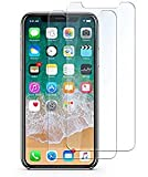 Fedirect 2-packs iPhone X Screen Protector, Tempered Glass Screen Protector High Definition Clear Screen Protector