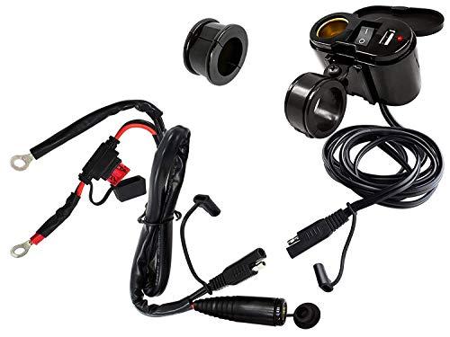 EKLIPES EK1-110B Cobra Black Ultimate Motorcycle USB Charging System