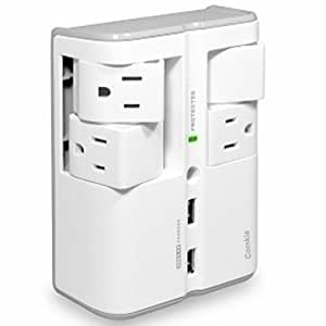 Amazon Com 4 Swivel Outlets Surge Protector With 2 Usb