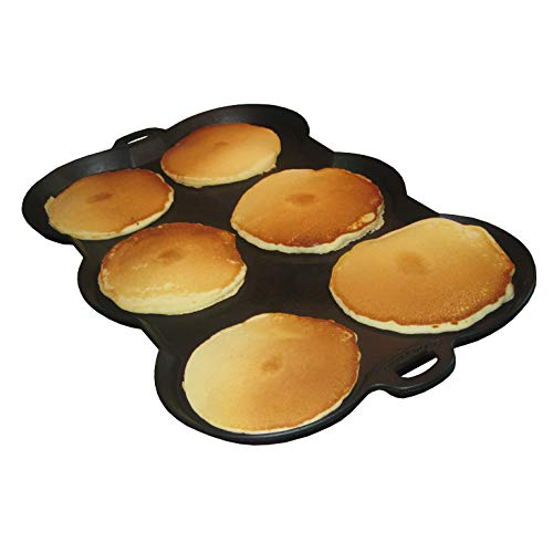 The Wonder Griddle Non-stick griddle pan for double-burner stovetop, oven, or grill | Great for grilling, tailgating, and camping | Round molds for pancakes, eggs, hamburgers, and tortillas.