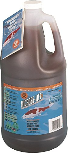 Cleaner Pond Oxy (Eco Labs 971047 10PLG4 Microbe Lift PL Bacteria for Watergardens Gallon)