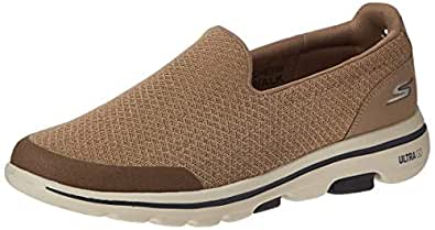 SKECHERS GO WALK 5 Mens Shoes, Brown (Khaki), 9 UK (43.5 EU)