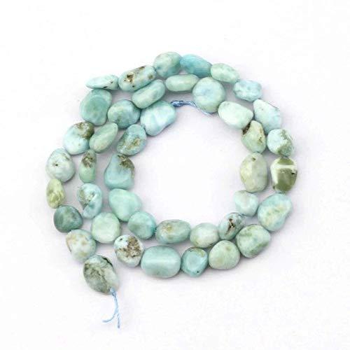 Calvas Freeform Larimar (Copper Pectolite) Stone Beads Natural Stone Beads DIY Loose Beads for Jewelry Making Beads srand 15
