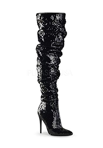 3011 Courtly Pleaser Pleaser Courtly Blk Sequins RFqtnWFv