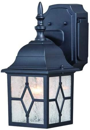 Galeana Textured Black 12.5 Outdoor Wall Light w GFCI Outlet