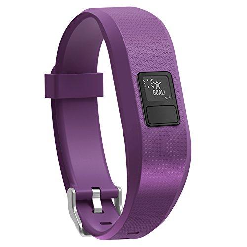 SnowCinda 11 Colors Garmin Vivofit 3 Vivofit JR Bands With Secure Watch Clasp, Silicone Replacement Bands for Garmin Vivofit 3 JR (Purple) -