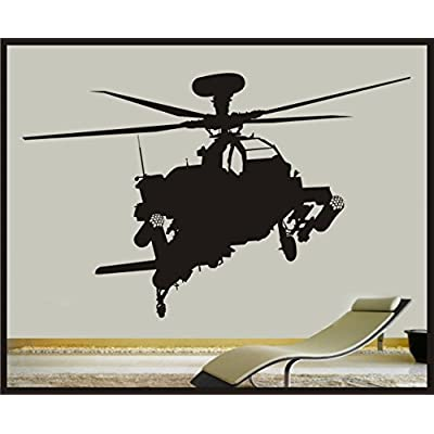 CELYCASY Military Apache Attack Helicopter Vinyl Wall Decal - 27