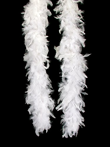 Las Vegas Party Costumes Ideas (Loftus International Long Fluffy Feather Vegas Boa, White, One Size/72
