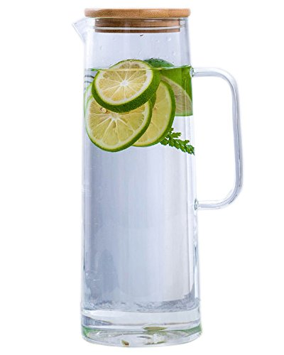Glass water Pitcher Teapot With Handle for family-1500ml