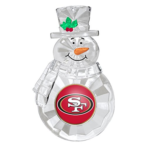 NFL San Francisco 49ers Traditional Snowman Ornament Nfl Football Snowman Ornament