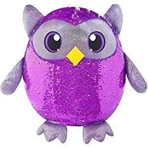 Shimmeez 8 Reversible Sequin Plush Animals (Owl)