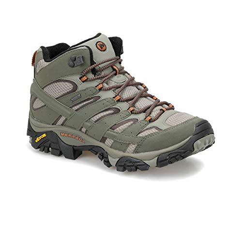 Merrell Shoes Moab 2 Mid Gore-Tex J42475 Olive Adobe Size 11.5 ()