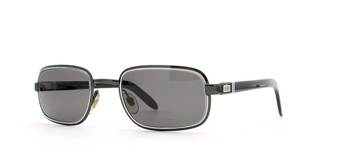 979450eb9faf5 Gianfranco Ferre 468 7JZ Black and Silver Authentic Men - Women Vintage  Sunglasses