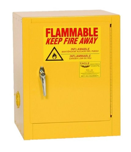 (Eagle 1901 Safety Cabinet for Flammable Liquids, 1 Door Manual Close, 2 gallon, 17-1/4