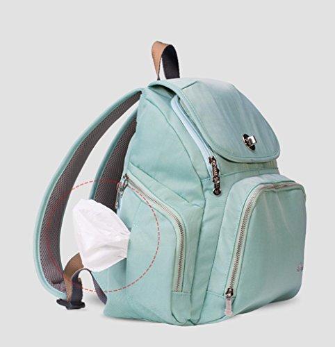 HJXJXJX Bolsa de pañales de bebé Mochila de viaje Bolsa de hombro impermeable grande Cochecito apto con almohadilla de cambio y portátil de bolsillo aislado
