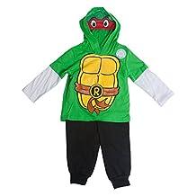 Teenage Mutant Ninja Turtles Raphael Costume Masked Hooded Long-Sleeve Set - 2T