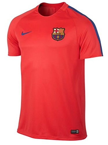 Nike Men's Dry FC Barcelona Training Top (Medium) Bright Crimson