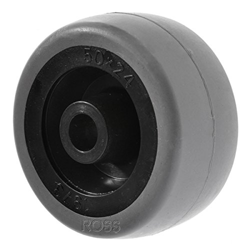 50mm Light Duty Wheel by Ross Castors, Grey Rubber Wheel, Small Trolley Wheels, Furniture Wheel