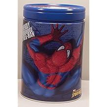 Marvel Spider Sense Spider-man Round Tin Coin Bank Blue Lid