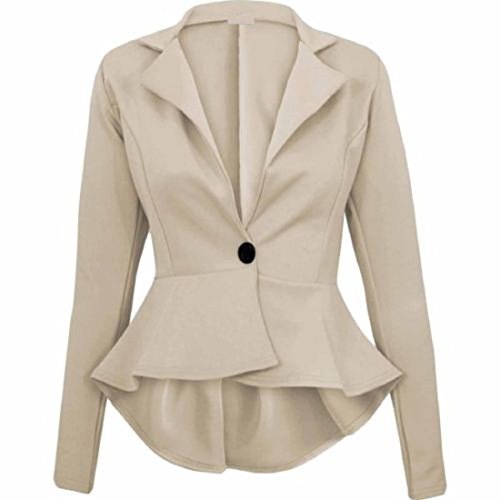 UK Slim Plus Stone Peplum 26 New Jackets Fitted Fit Ladies Blazer 8 Zeetaq Jacket Size Frill Flared Women's 1RSqxqw87