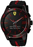 Scuderia Ferrari Men's Quartz Stainless Steel and Silicone Smart Watch, Color:Black (Model: 830375)