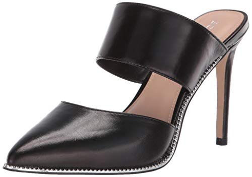 BCBG Generation Women's Hilary Mule Pump, Black Leather 8.5 M US ()