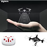 Simply Silver - Quadcopter - Syma X20 Pocket Drone 2.4G 4CH RC Quadcopter Headless Mode Altitude Hold Black