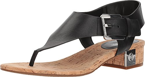 Kors Michael Leather Thongs (MICHAEL Michael Kors London Thong Sandals Black (8))