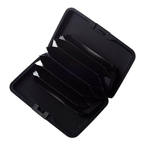 SODIAL (R) Farbe Metall Aluminiumgeschaeft Identifikation-Kreditkarte-Kasten-Mappen-Geldbeutel-Halter-Kasten-Tasche - blaue Sonnenblume