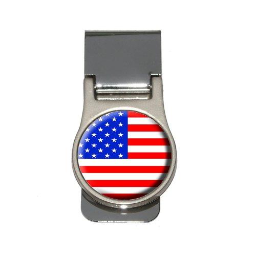 American USA Flag Money Clip