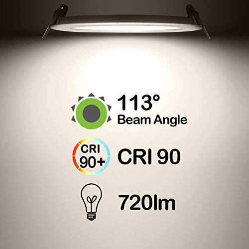 Hykolity 12W 4 Inch LED Slim Recessed Ceiling Light, 720lm, CRI90, 4000K Neutral White, Low Profile Downlight with Juction Box Dimmable, ETL& Energy Star Listed by hykolity (Image #2)
