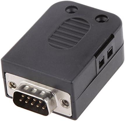 KESOTO DB9オス9ピンD-Subコネクタ圧着端子ボードカバースクリュー付き