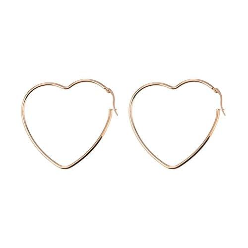 design senza tempo 122ae de6cf Orecchini Simple Hearts placcati in oro rosa a forma di cuore, firmati  BellaMira. Unisex, in elegante confezione regalo