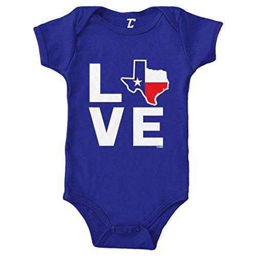 Love Texas - Texan Pride Strong Bodysuit (Royal Blue, Newborn)