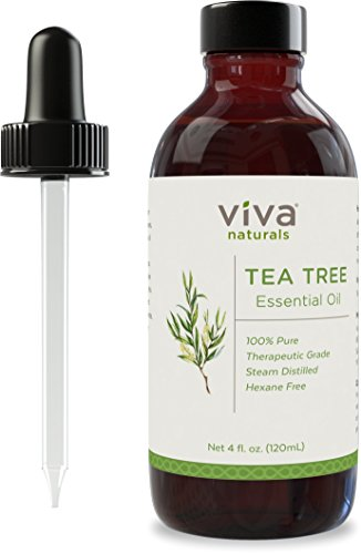 Viva Naturals Tea Tree Oil, 4 oz - 100% Pure & Therapeutic Grade, All-Natural Skin Treatment, Authentic Premium Australian Variety