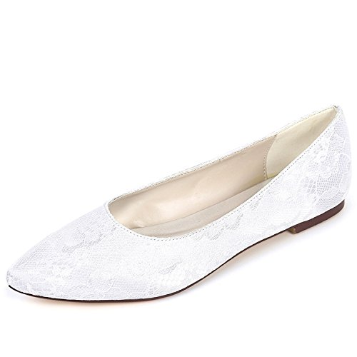 Plate YC Mariage Chunky Party 6cm Femmes White Chaussures Satin De Soir Crossover Fashion 0 Plat Bridal L Forme FSwxORqR