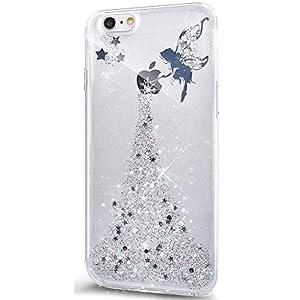 Coque iPhone 6 Plus/6S Plus,Surakey Glitter Paillette TPU Silicone Étui Housse Téléphone Couverture Brillant Cristal…