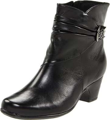 Clarks Women's Leyden Crest Boot,Black Leather,6 M US
