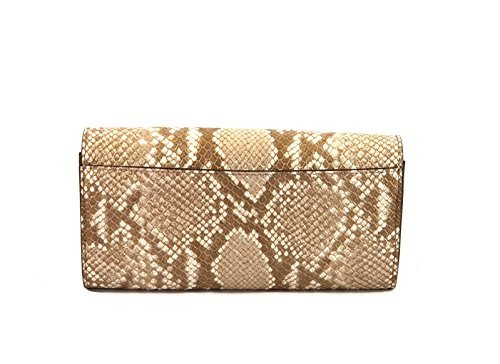 Michael Kors Callie Stud Saffiano Leather Carryall Wallet (Dark Sand) by Michael Kors
