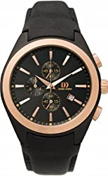 Danish Designs Men's IQ17Q794 Stainless Steel Rose Gold/Black Ion Plated Watch