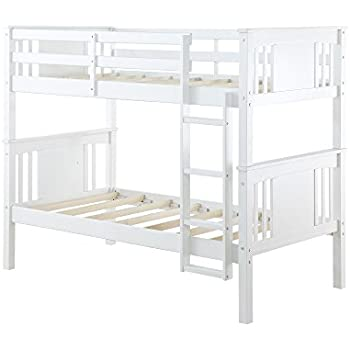 dorel living dylan bunk bed twin white