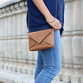 product image for The Cecilia Fine Leather Envelope Purse in Tan