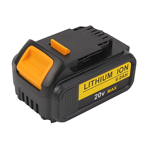 20V MAX 6.0Ah Li-ion DCB200 Battery Replacement for Dewalt DCB204 DCB205 DCB205-2 DCB180 DCD985B DCD771C2 DCS355D1 DCD790B Cordless power tools
