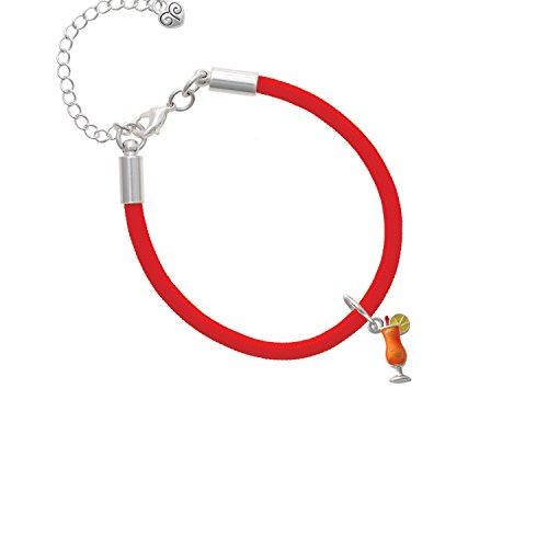 3-D Orange Tropical Drink Red Malibu Paracord Bracelet