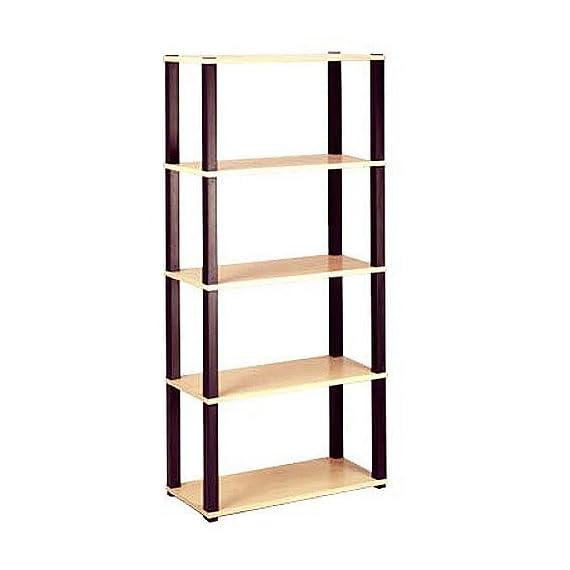Open 5-Shelf Bookcase, Multiple Finishes -  - living-room-furniture, living-room, bookcases-bookshelves - 414mjDFWuLL. SS570  -