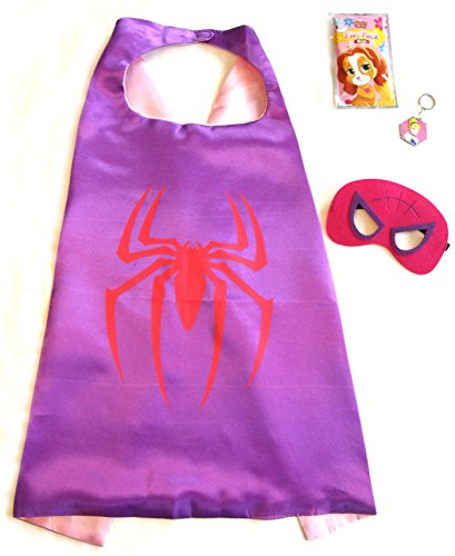 Color-N-Splash Three Piece Superhero Cape & Mask Sets for Pretend Play, Dress up, Parties by (Spidergirl)]()